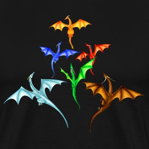 Flight of Dragons - Men's Premium T-Shirt