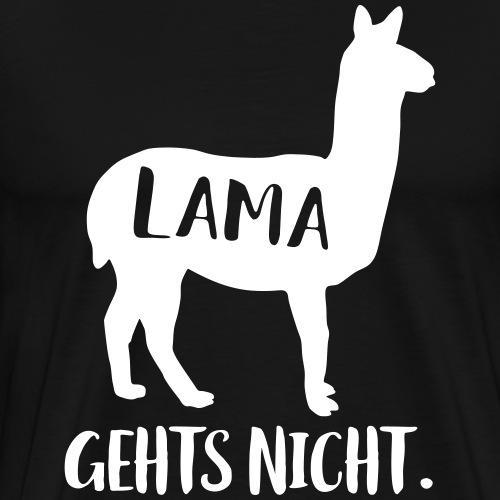 Lustiger Langsam Sport Lama Tier Spruch - Männer Premium T-Shirt