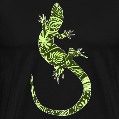 Flower Lizard - Miesten premium t-paita