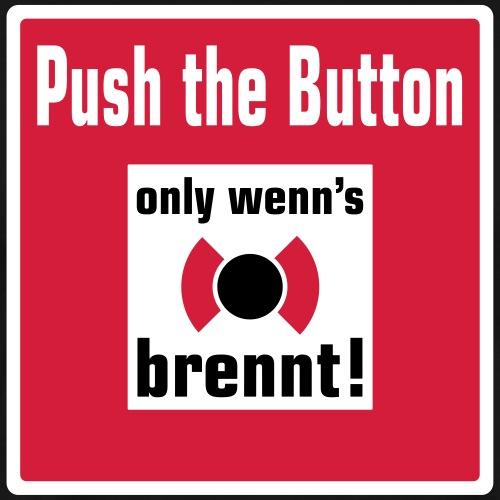 Feuermelder_Pus the Button - Männer Premium T-Shirt