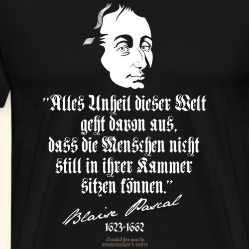 Zitat T Shirt Blaise Pascal   spassprediger - Männer Premium T-Shirt