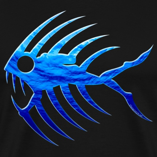 Deep Diver Fangtooth Fish - Diver, Cool textiles - Miesten premium t-paita