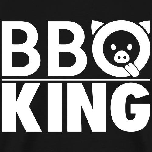 Funny BBQ KING Smoke Grill - Männer Premium T-Shirt
