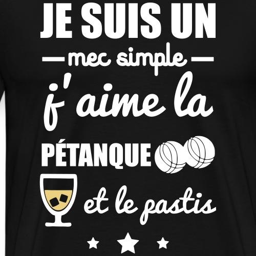 Mec simple pastis et apéro - T-shirt Premium Homme
