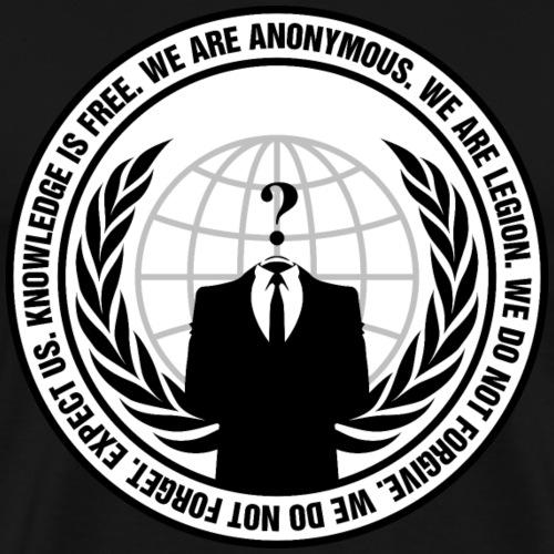 anonymous logo/notFawkes - Men's Premium T-Shirt