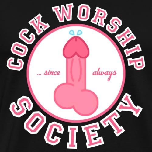 Cock Worship Society - Männer Premium T-Shirt