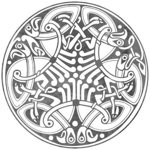 Old Celtic Birds Ornament Mandala 1 - Männer Premium T-Shirt