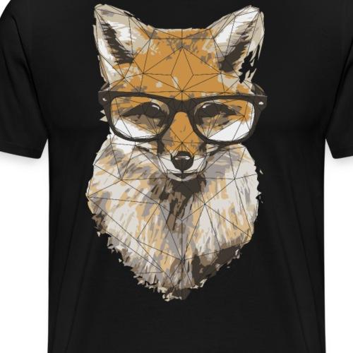 geometric hipster fox - Männer Premium T-Shirt