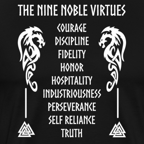 Nine nobles virtues - Camiseta premium hombre
