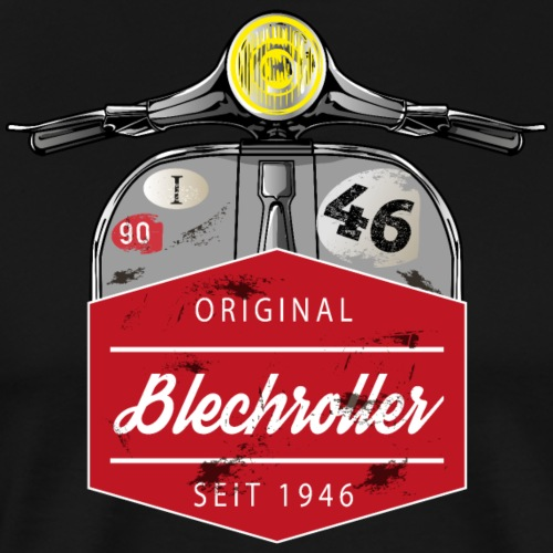 Blechroller Logo Vintage - Männer Premium T-Shirt
