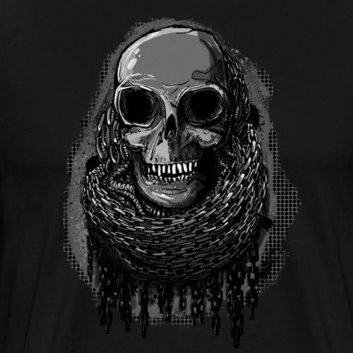 Skull in Chains - Men's Premium T-Shirt