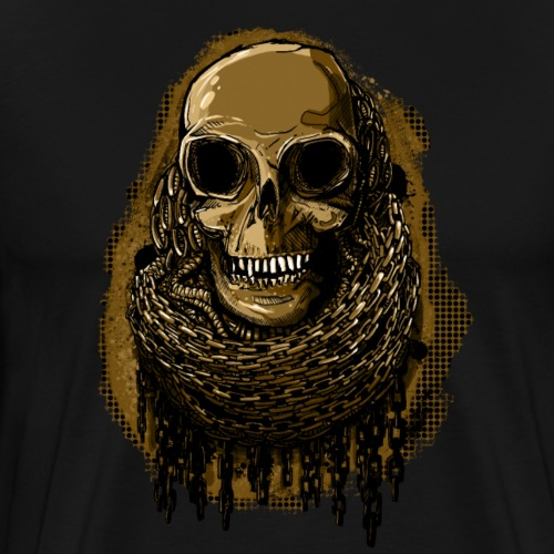 Skull in Chains YeOllo - Men's Premium T-Shirt