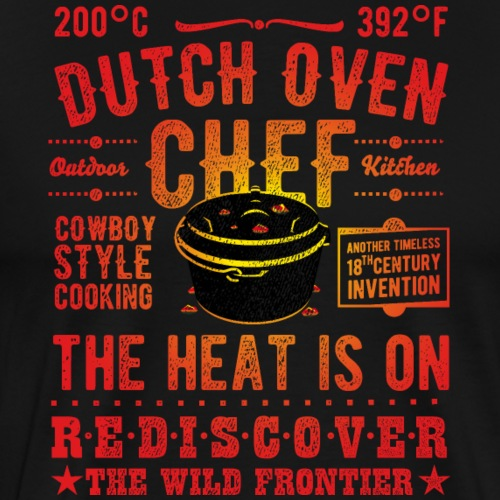 Grill-Shirt Dutch Oven Chef - Männer Premium T-Shirt