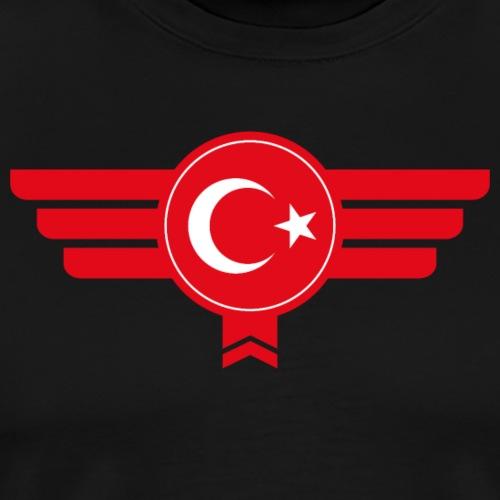 Türkei Türkiye Türkisch Flagge Emblen - Männer Premium T-Shirt