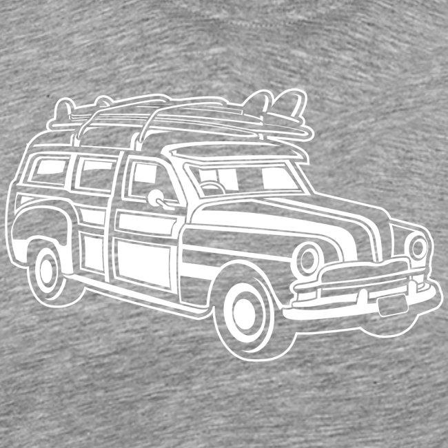 Chevy Cadilac Woodie / Oldtimer Kombi 01_weiß