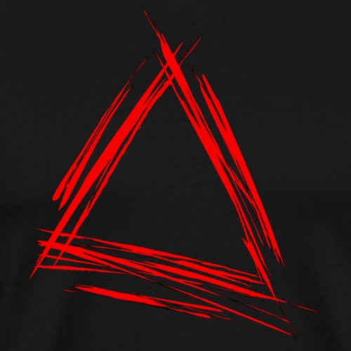 Triangle red scribble
