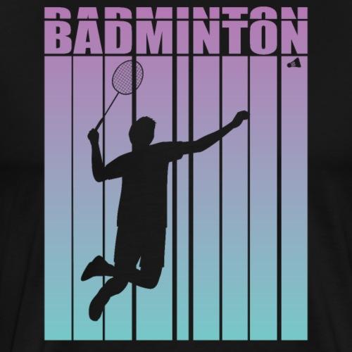 Badminton Jump Smash - Men's Premium T-Shirt