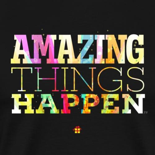 Amazing Things Happen - Simplified - Men's Premium T-Shirt