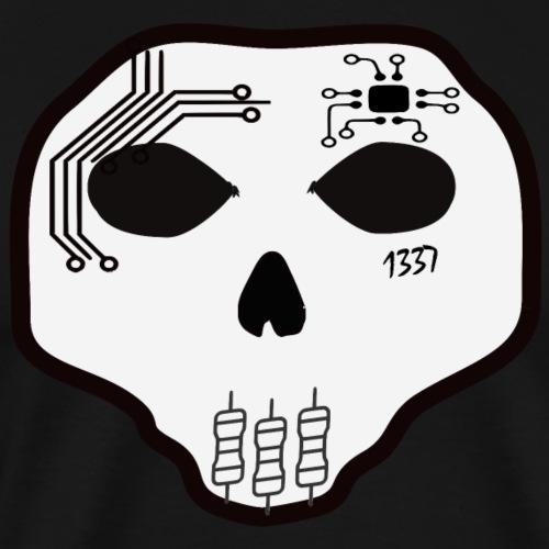 Cyber Skull - T-shirt Premium Homme