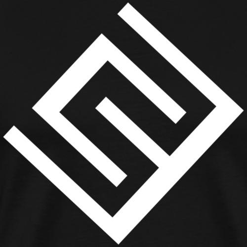 ChrisWhippit Logo Vit - Premium-T-shirt herr