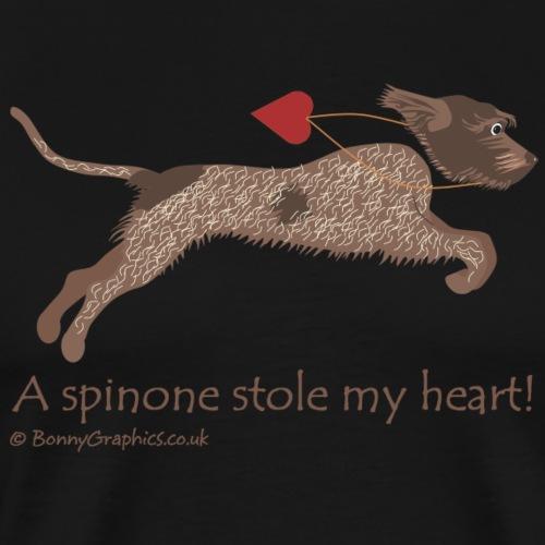 Brown roan spinone thief - Men's Premium T-Shirt