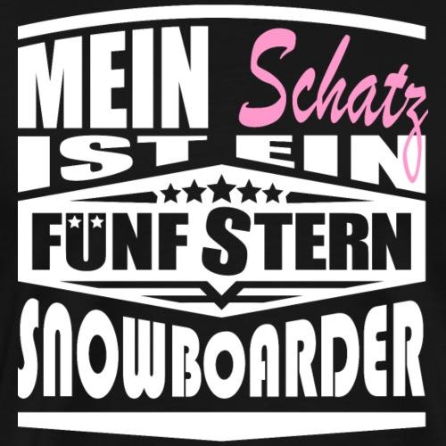 Schatz 5Stern Snowboarder - Männer Premium T-Shirt