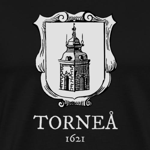 Torneå 1621 vaalea - Miesten premium t-paita
