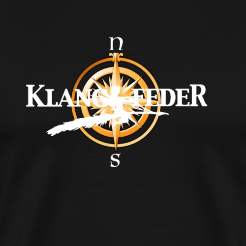 Klangfeder Kompass - Männer Premium T-Shirt