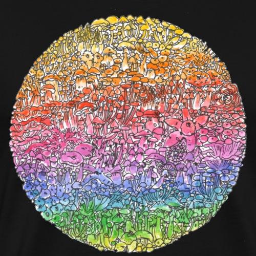 Circle Culture / Regenbogen / Pilze - Männer Premium T-Shirt