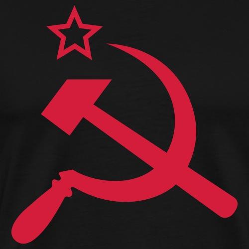 Hammer und Sichel mit Stern - Männer Premium T-Shirt