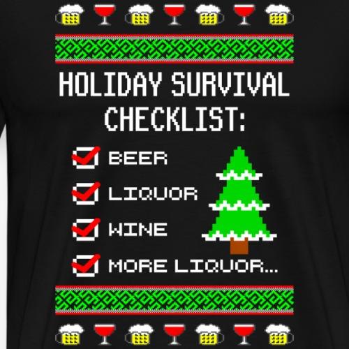 Alkohol Checklist Ugly Christmas - Männer Premium T-Shirt