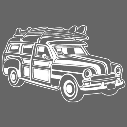 Chevy Cadilac Woodie / Oldtimer Kombi 01_weiß - Männer Premium T-Shirt