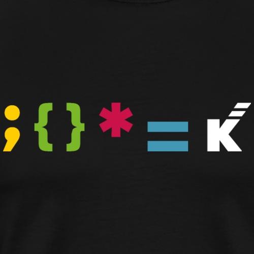 Keep k-oding - Camiseta premium hombre