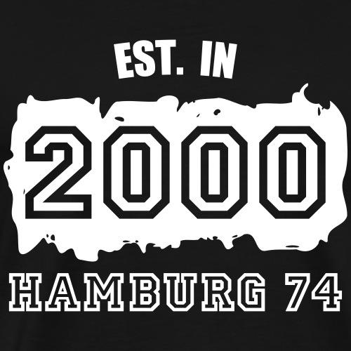 Established 2000 Hamburg 74 - Männer Premium T-Shirt