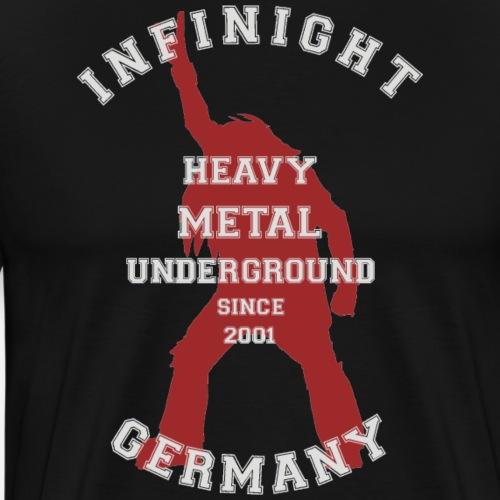College headbanger dark red - Männer Premium T-Shirt