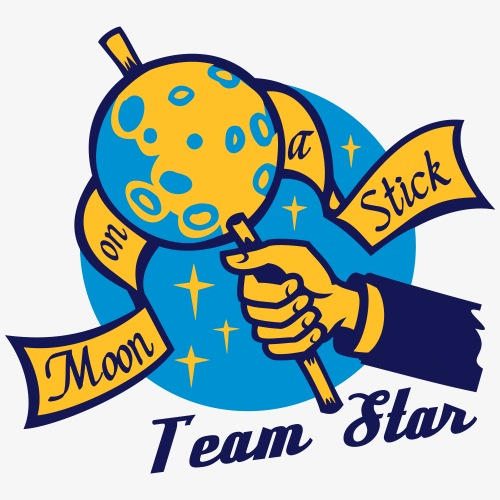 Moon on a Stick - Team Star - Men's Premium T-Shirt