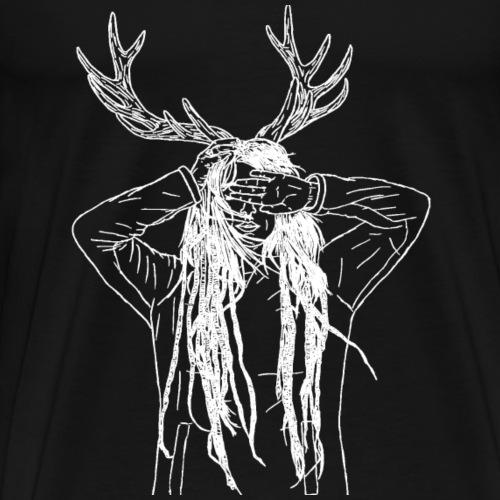 Antler white - Männer Premium T-Shirt