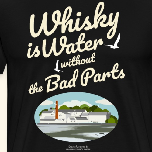 Whisky T Shirt Design Whisky Is Water - Männer Premium T-Shirt