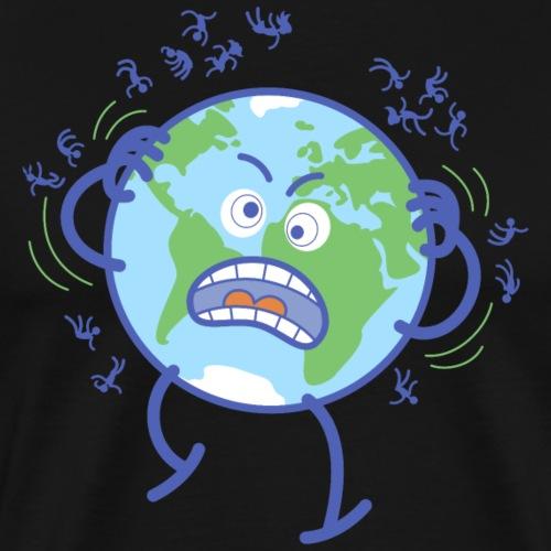 Desperate Earth scratching annoying humans off - Men's Premium T-Shirt