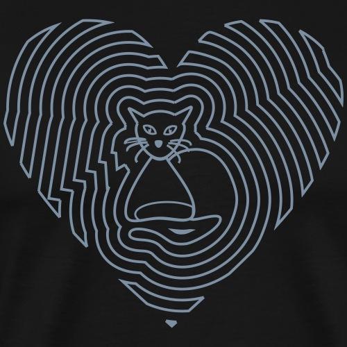 Katzen Spirale Linie - Männer Premium T-Shirt