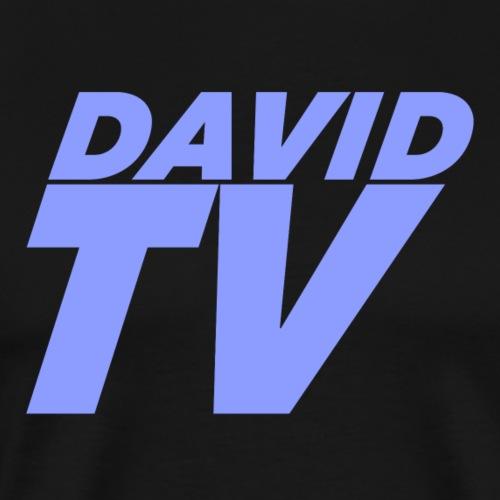 Blauer Schriftzug - Männer Premium T-Shirt