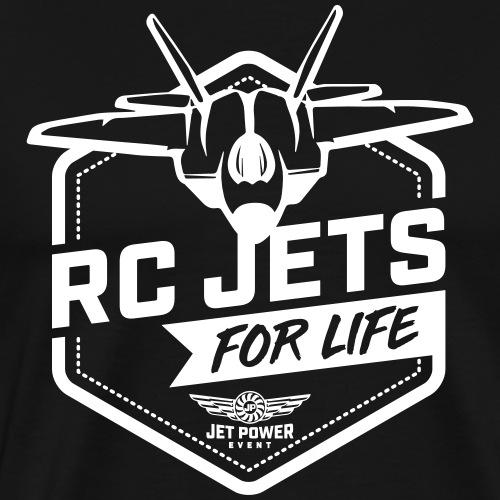 Spruch RC Jets for Life, weiß - Männer Premium T-Shirt