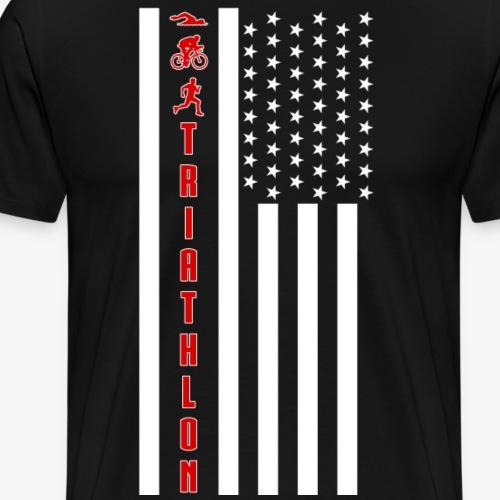 TRIATHLON - Flagge - Männer Premium T-Shirt