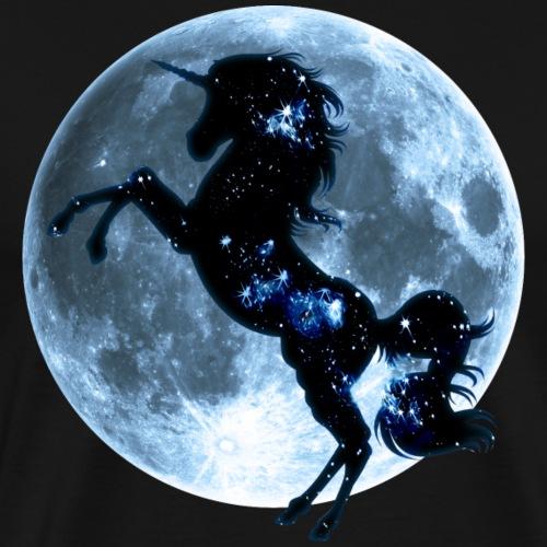 Einhorn, Vollmond , Mond, Magie, Pferd, unicorn, - Männer Premium T-Shirt