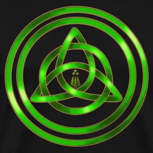 Awen Triqueta - Green - Men's Premium T-Shirt