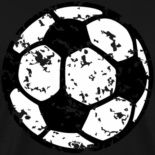 Fußball zweifarbig distressed - Männer Premium T-Shirt