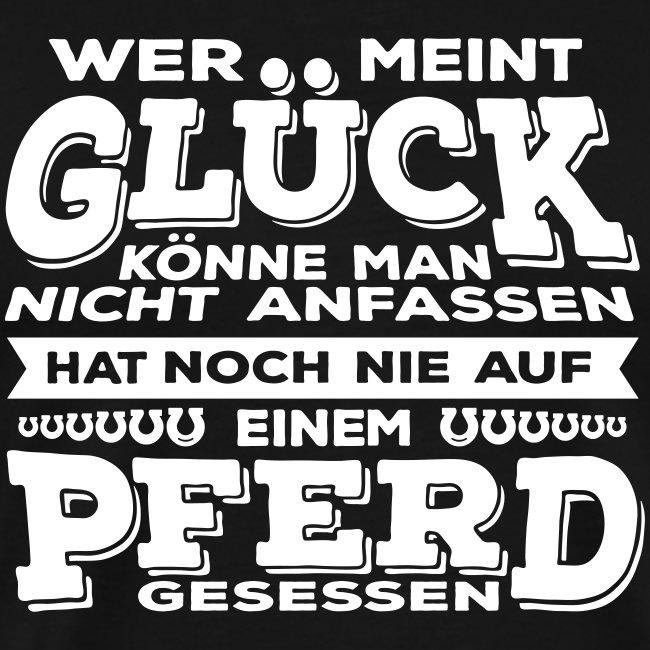 Vorschau: Glück Pferd - Männer Premium T-Shirt