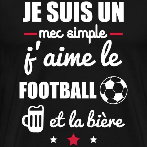 mec simple football bière - T-shirt Premium Homme