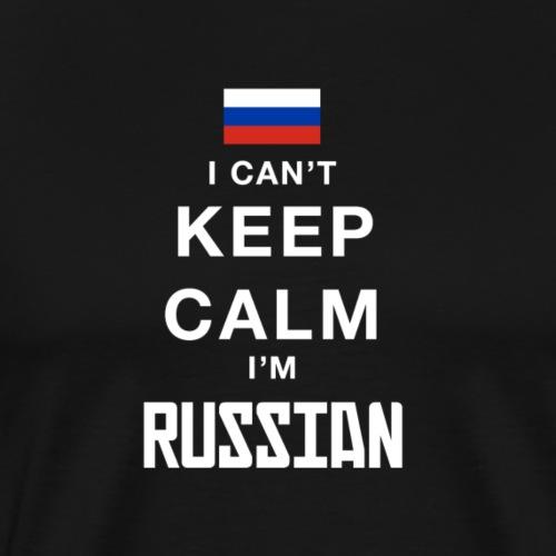 Ich kann nicht ruhig bleiben, ich bin Russen - Männer Premium T-Shirt