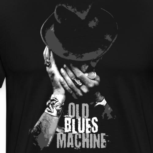 15-7 OLD BLUES MACHINE-Tekstiili- ja lahjatuotteet - Miesten premium t-paita